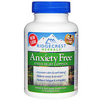 Ridge Crest Herbals, Комплекс для избавления от тревоги и стресса, 60 веганских капсул, купить, цена, отзывы