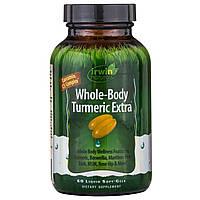 """Irwin Naturals, """"Куркума для всего тела экстра"""", пищевая добавка с куркумином, 60 мягких желатиновых капсул с жидкостью, купить, цена, отзывы"""