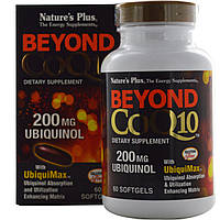 Nature's Plus, Beyond CoQ10, убихинол, 200 мг, 60 мягких таблеток, купить, цена, отзывы