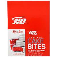 Optimum Nutrition, Печенье с Протеином, Вкус Торта Красный Бархат, 12 батончиков, 2,19 унции (62 г) каждый, купить, цена, отзывы