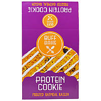 Buff Bake, Protein Cookie, Frosted Oatmeal Raisin, 12-2.82 oz (80 g) Cookies, купить, цена, отзывы
