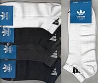 Носки мужские спортивные х/б с сеткой Adidas, Originals, 41-46 размер, короткие, ассорти, 666