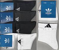 Носки мужские спортивные х/б с сеткой Adidas, Originals, 41-46 размер, средние, ассорти, 665