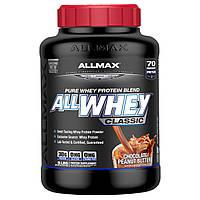 """ALLMAX Nutrition, """"Чистая сыворотка, классическая"""", коктейль из чистого сывороточного белка, со вкусом шоколадно-арахисовой пасты, 5 фунта (2,27 kг),"""