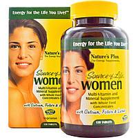 Nature's Plus, Source of Life, для женщин, мультивитаминная и минеральная добавка, 120 таблеток, купить, цена, отзывы