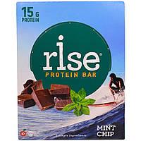 Rise Bar, Рисовый Протеиновый Батончик, Мятный Чип, 12 штук, по 2,1 унции (60 г) каждый, купить, цена, отзывы
