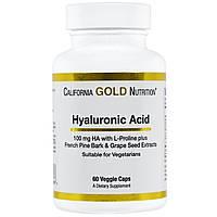California Gold Nutrition, Гиалуроновая кислота, 60 вегетарианских капсул, купить, цена, отзывы