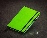 Блокнот с черной бумагой Зеленое Яблоко мини, фото 1