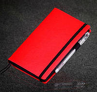 Блокнот с черной бумагой Красный мини, фото 1