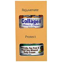 Mason Naturals, Avocado, Tea Tree & Dead Sea Mineral Body Cream + Collagen Beauty Cream, Pear Scented, 2 Jars, 2 oz (57 g) Each, купить, цена, отзывы