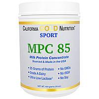 California Gold Nutrition, Концентрат молочного белка, минимальное содержание лактозы, без глютена, 16 унций (454 г)