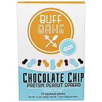 Buff Bake, Протеиновый Арахисовый Спред с Шоколадной Крошкой, Чиа + Лен, 10 Мягких Упаковок, по 1,15 унции (32 г) каждая, купить, цена, отзывы