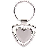Брелок металлический Сердце, от 10 шт