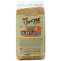 Bob's Red Mill, Bob's Red Mill, Органика, Золотые семена льна, 24 унции (680 г), купить, цена, отзывы