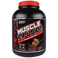 """Nutrex Research Labs, """"Инфузия для мышц"""", передовой белковый коктейль со вкусом хрустящей шоколадно-арахисовой пасты, 5 фунтов (2268 г), купить, цена,"""