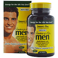 Nature's Plus, Source of Life, Мультивитаминная и минеральная добавка для мужчин, без железа 60 таблеток, купить, цена, отзывы