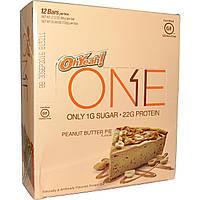 Oh Yeah!, Батончики One, со вкусом пирога с арахисовым маслом , 12 батончиков по 2.12 унции (60 г), купить, цена, отзывы