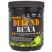 """Grenade, """"Защита BCAA"""", комплекс аминокислот с разветвленными боковыми цепями (BCAA), со вкусом зеленого яблока, 13,76 унций (390 г), купить, цена,"""