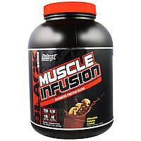 """Nutrex Research Labs, """"Инфузия для мышц"""" из черной серии, передовой белковый коктейль со вкусом банановых хрустиков в шоколаде, 5 фунтов (2268 г),"""