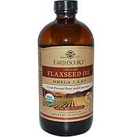 Solgar, Источник земли, органическое льняное масло, 16 жидких унций (473 мл)