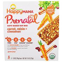 Nurture Inc. (Happy Baby), Happy Mama, Prenatal Soft Baked Oat Bar, Carrot, Raisin, Cinnamon, 5 Bars, купить, цена, отзывы