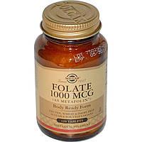 Solgar, Фолиевая кислота, 1000 мг, 120 таблеток, купить, цена, отзывы