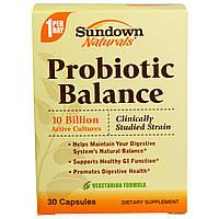 Sundown Naturals, Пробиотический баланс, 30 капсул, купить, цена, отзывы