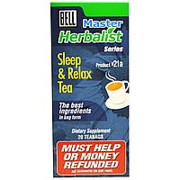 Bell Lifestyle, Master Herbalist Series, чай для сна и расслабления, 20 чайных пакетиков, по 1,5 г каждый