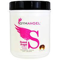 """Gym Angel, """"Сладкий ангел"""", протеиновый коктейль, шоколадный пончик, 1,2 фунта (555,6 г)"""