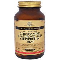Solgar, Глюкозамин, гиалуроновая кислота, хондроитин и МСМ, 60 таблеток, официальный сайт