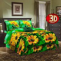 Ткань для постельного белья бязь Жёлтые ромашки