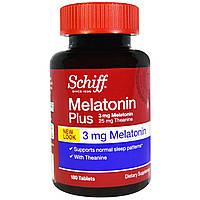 Schiff, Мелатонин плюс, 3 мг, 180 таблеток