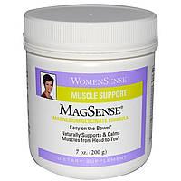 Natural Factors, WomenSense, MagSense, глицинат магния, 200 г