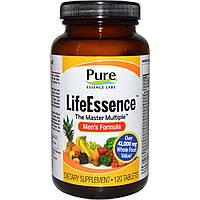 Pure Essence, LifeEssence, The Master Multiple, формула для мужчин, 120 таблеток