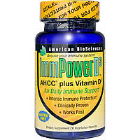 American Biosciences, Сила иммунитета D3, AHCC плюс витамин D3, 30 вегетарианских капсул