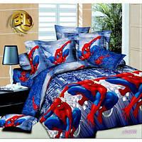 Комплект детского постельного белья подростковый Человек паук ранфорс 2