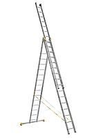 Лестница алюминиевая универсальная трехсекционная цена