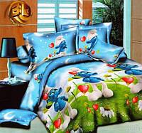 Комплект детского постельного белья подростковый Смурфики 2