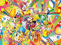 Бумажный подарочный пакет Большой горизонтальный - Микки Маус карнавал