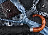 Бумажный подарочный пакет Большой горизонтальный - Галстук+зонт