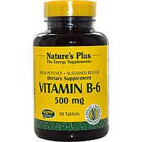 Nature's Plus, Витамин B-6, 500 мг, 90 таблеток