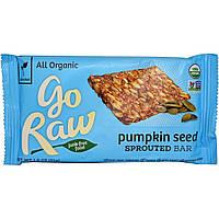 Go Raw, Organic Go Raw, плитка с проросшими семенами тыквы, 1,8 унции (51 г)