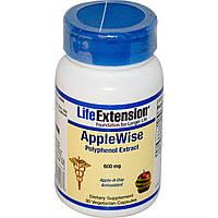 Life Extension, AppleWise, экстракт полифенола, 600 мг, 30 растительных капсул