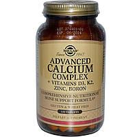 Solgar, Расширенный Комплекс Кальций + Витамины D3, К2, Цинк, Бор, 120 Таблеток