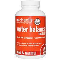 Michael's Naturopathic, Water Balance Factors, 120 вегетарианских капсул