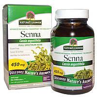 Nature's Answer, Сенна, 450 мг, 90 растительных капсул