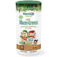 Macrolife Naturals, Macro Coco Greens, шоколадный супер продукт для детей, 14 унций (404 г)