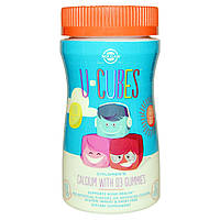 Solgar, U Cubes, детские жевательные витамины кальций с витамином D3, 60 жевательных желейных конфет