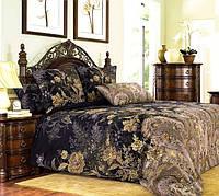 Ткань для постельного белья перкаль Музей коричнево черный
