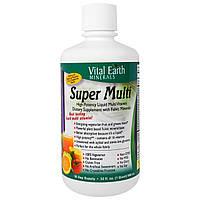 Vital Earth Minerals, Супер мульти, природный вкус маракуйи и танжерина, 32 жидк. унц. (946 мл)